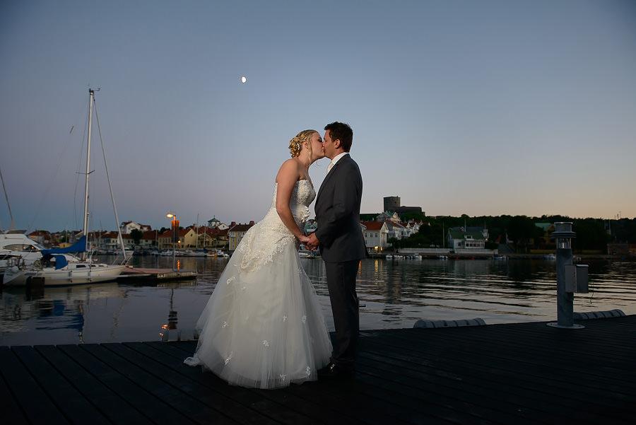 Bröllop på Marstrand - kvällsporträtt