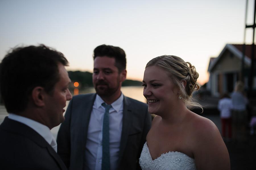 Bröllop på Marstrand - utomhus på kvällen - party