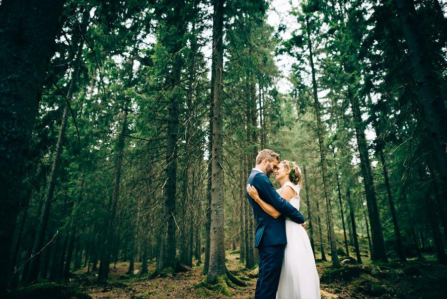 Bröllop i trollskogen. Vid Viared utanför Borås.