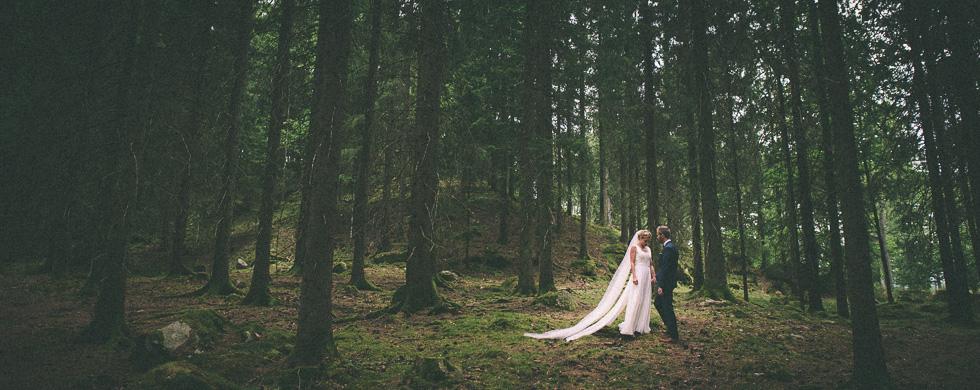 Skogsbröllop vid Viaredssjön, Borås.