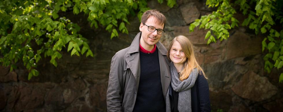 Provfotografering inför bröllop på Särö
