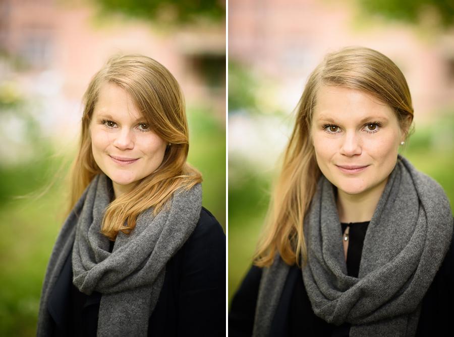 Provfotografering inför bröllop på Särö - porträtt på bruden