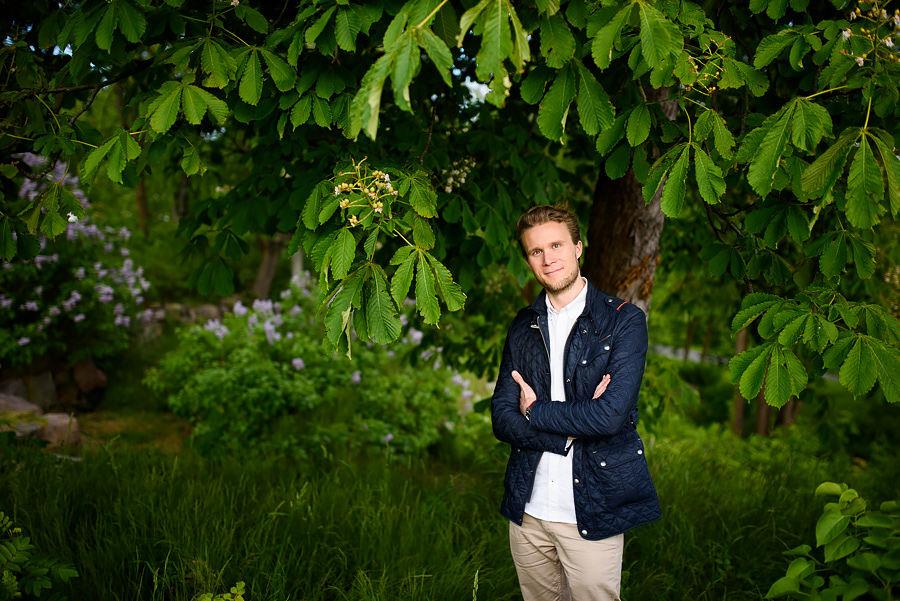 Provfotografering inför Citybröllop i Göteborg- blivande brudgummen