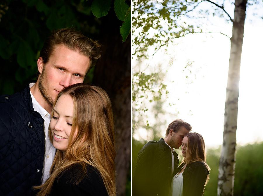 Provfotografering för bröllop i Eriksberg, Göteborg motljusbild