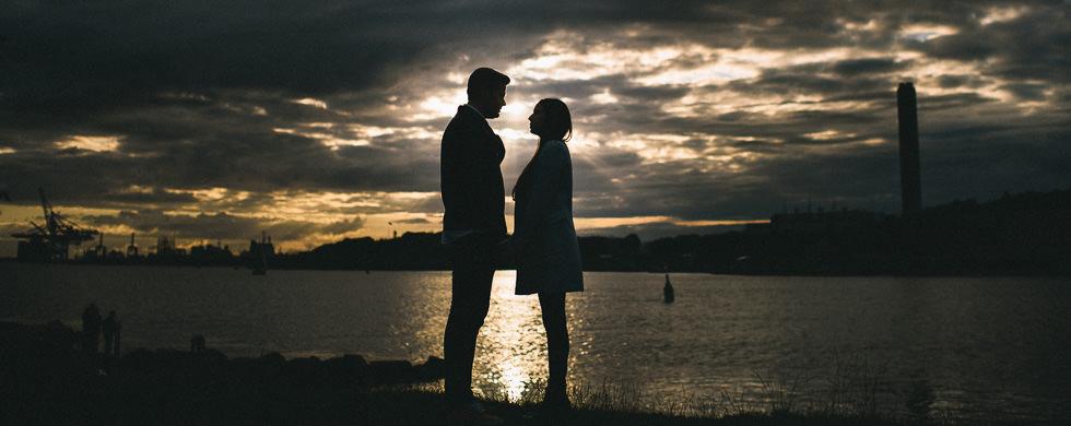 Provfotografering och bröllopsfika vid Röda Sten i Göteborg