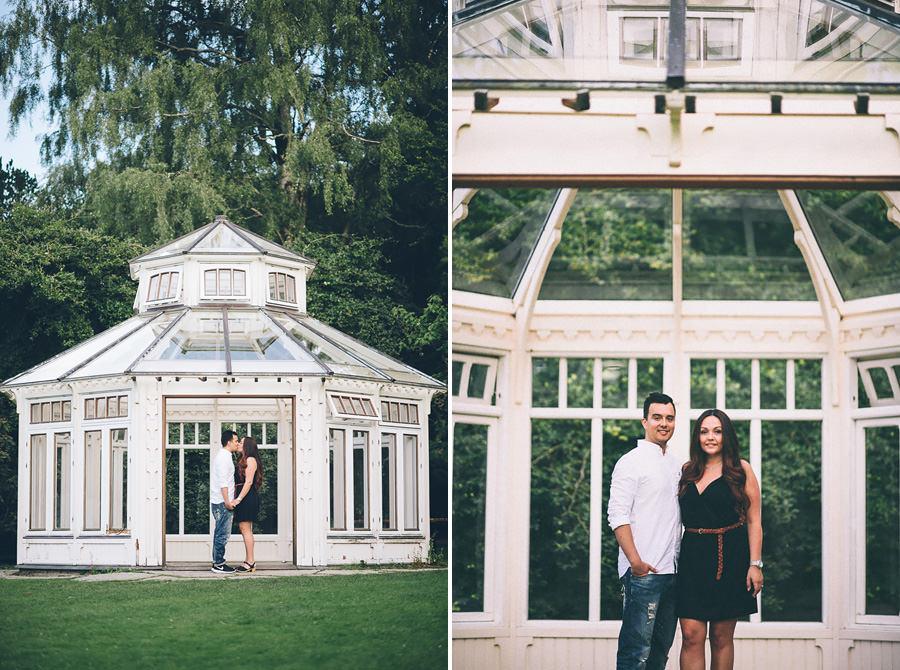 Pre Wedding Shoot i Botaniska - porträtt vid lusthuset