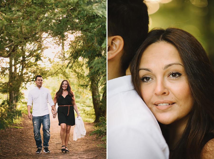 Pre Wedding Shoot i Botaniska - brudparet promenerar i motljus