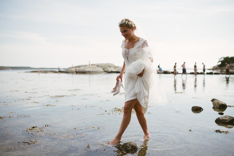 Bröllop Göteborg. Bruden i vatten.