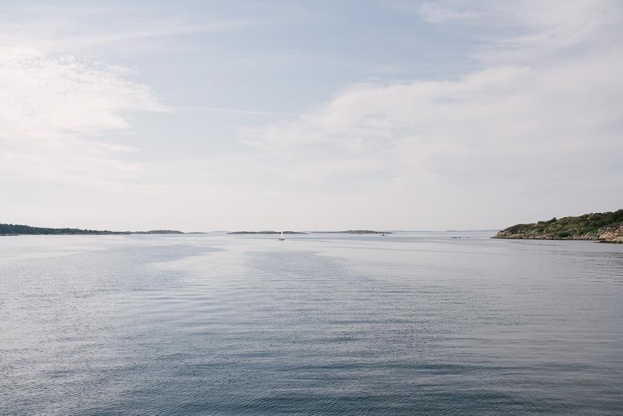 bröllop på havet. Båttur på västkusten utanför Särö. Skärgårdsbröllop