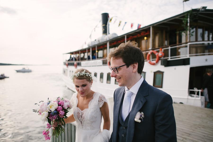 båtbröllop på Västkusten utanför Göteborg