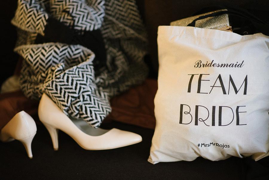 brudens förberedelser på hotellet - detaljer