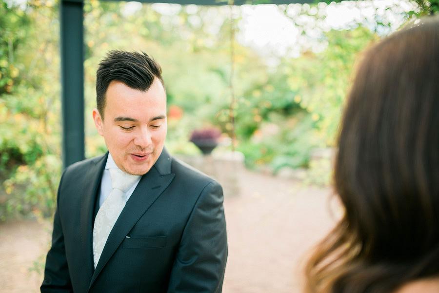 höstbröllop i park - first look