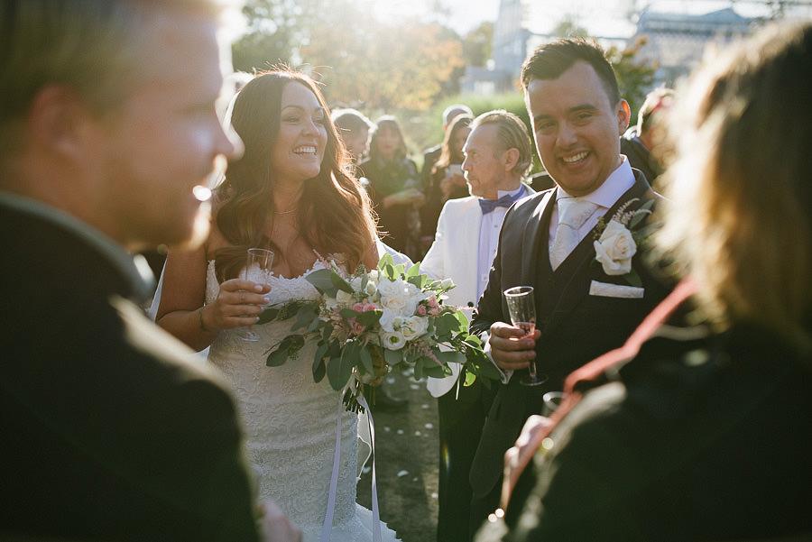 oktoberbröllop utomhus - gratulationer