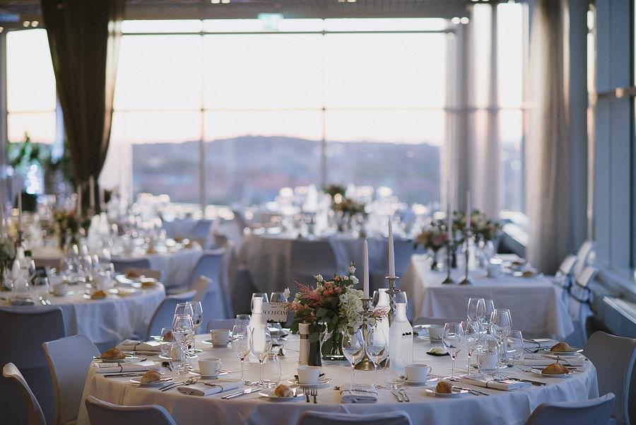 bröllopsfest på Imagine Gothia Towers - dukning
