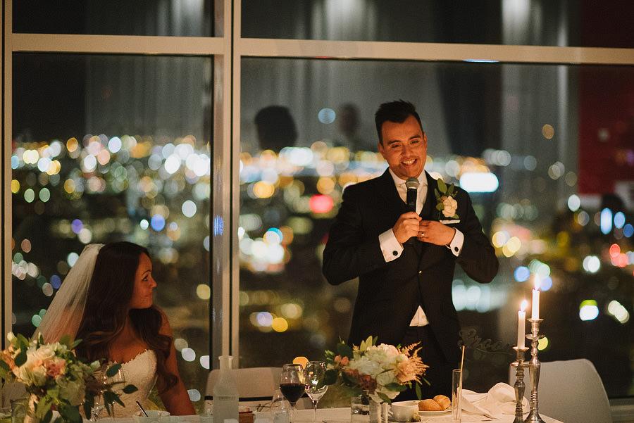 bröllopsmiddag på Imagine Gothia Towers, Göteborg - brudgumens tal