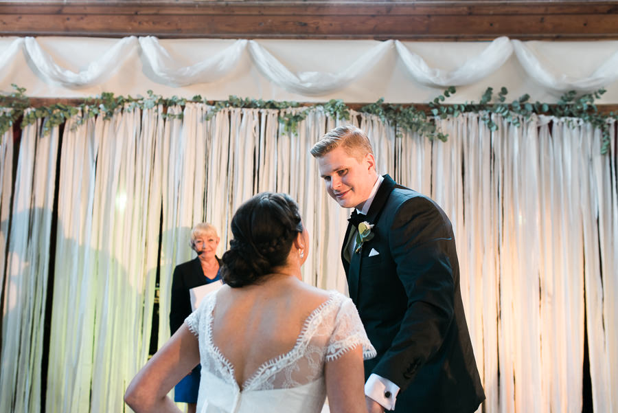Höstbröllop på landet - vigsel