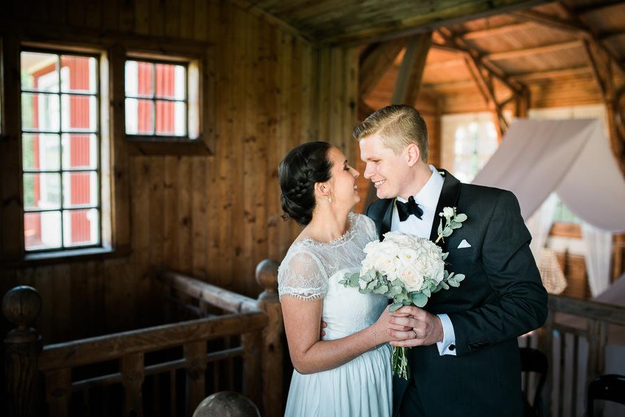 Bröllop på Lekhuset Nääs - porträtt av brudparet