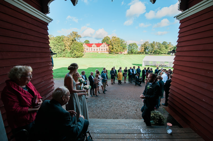 Bröllop på Lekhuset Nääs - gratulationer efter vigseln